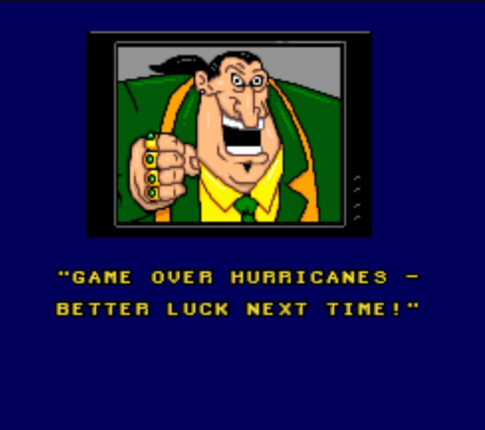 Hurricanes end screen